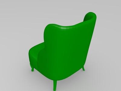 单人沙发-3d打印模型