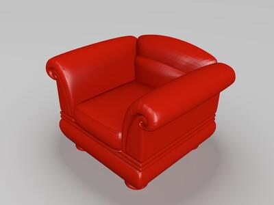 欧式沙发-3d打印模型