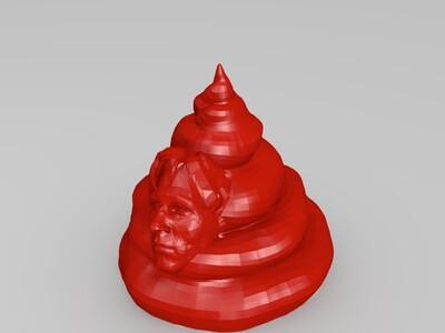 大便上的脸-3d打印模型