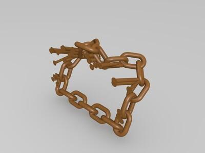 锁链式手机支架-3d打印模型