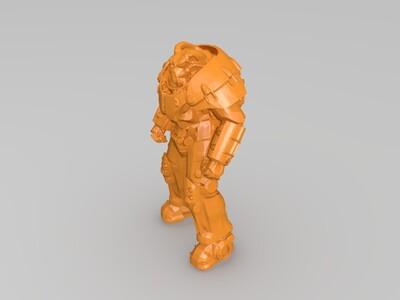 辐射 X01 动力装甲-3d打印模型