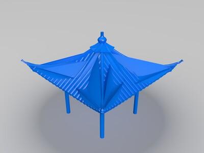 凉亭建筑模型-3d打印模型
