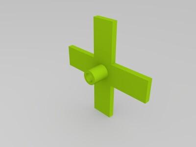 直径16MM铁柱支架-3d打印模型