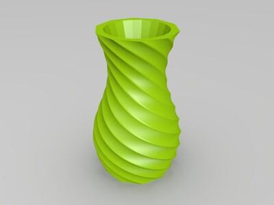 螺旋花瓶-3d打印模型
