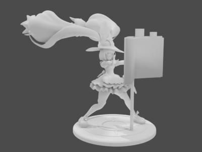 王者荣耀-安琪拉-魔法厨娘-3d打印模型