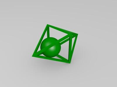 盒子中的球-3d打印模型