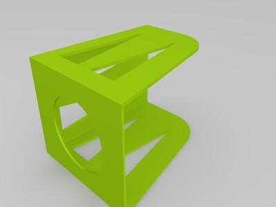 简约书架-3d打印模型