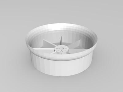 飞机涵道风扇-3d打印模型