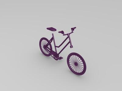 单人自行车模型-3d打印模型