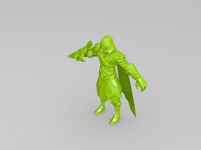 王者荣耀-兰陵王-3d打印模型
