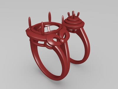 戒指 一对-3d打印模型