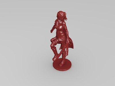 最终幻想13角色模型 ---Lighting pose1-3d打印模型