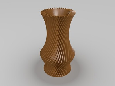 百褶花瓶-3d打印模型