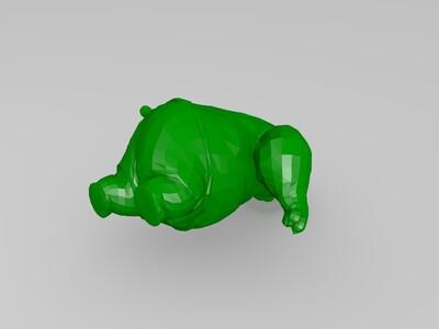功夫熊猫模型-3d打印模型