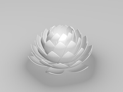 白莲花-3d打印模型