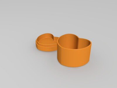 心型盒子-3d打印模型