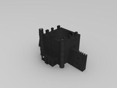 建筑笔筒-3d打印模型