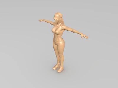 古墓丽影劳拉-3d打印模型