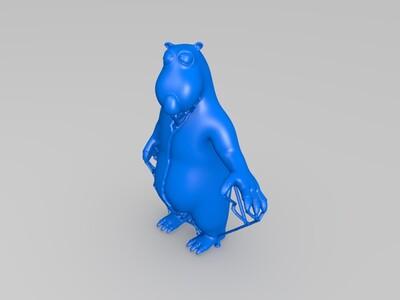 倒霉熊 熊样 呆萌-3d打印模型