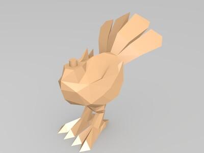 最终幻想7陆行鸟-3d打印模型