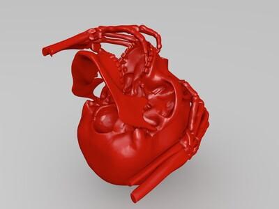骷髅手-3d打印模型