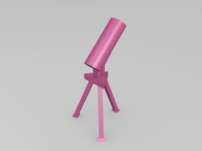 粗略的望远镜模型-3d打印模型