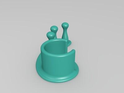 复古桌面红酒架-3d打印模型