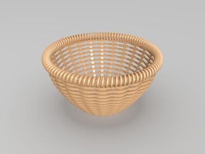 竹编篮-3d打印模型