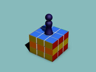 跳一跳3(魔方可动)-3d打印模型