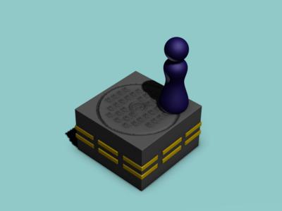 跳一跳4(井盖)-3d打印模型
