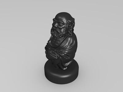 达摩摆件-3d打印模型