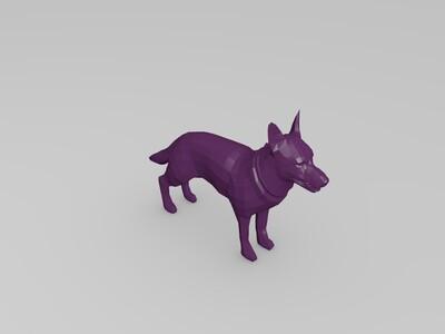 3D打印德国牧羊犬-3d打印模型