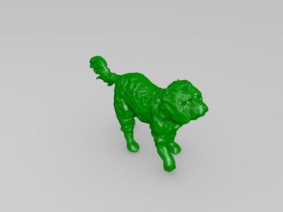 行走中的狗-3d打印模型