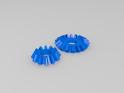 球面渐开线锥齿轮-3d打印模型