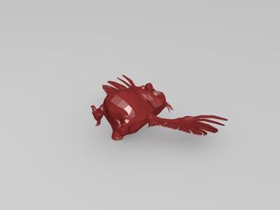 猫头鹰-骨骼绑定-3d打印模型