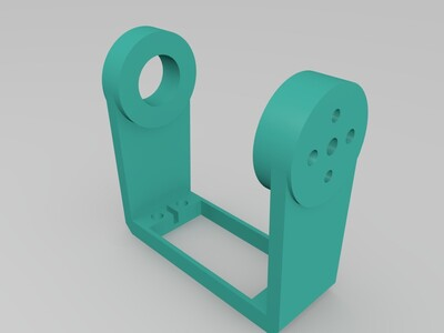 机械手舵机支架-3d打印模型