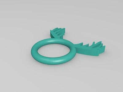 鹿头戒指-3d打印模型