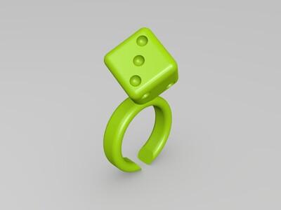时尚戒指3252-3d打印模型