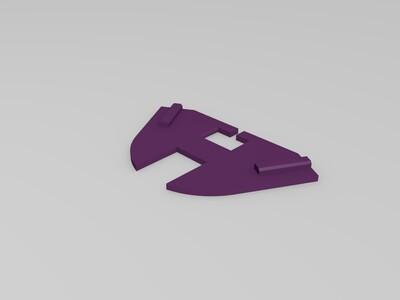 Kossel电机皮带防尘盖-3d打印模型