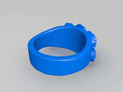 玫瑰戒指 饰品 首饰-3d打印模型