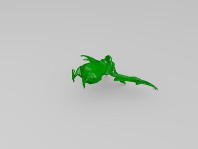 蝙蝠-带有骨骼绑定-3d打印模型