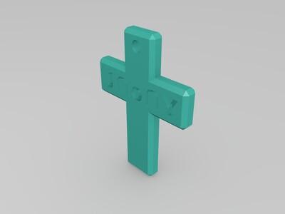 十字架钥匙圈挂件6款-3d打印模型