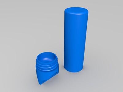 18650电池盒-3d打印模型