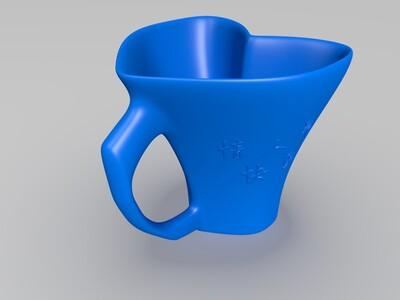情人节爱心杯子-3d打印模型