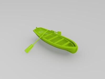 小船和桨-3d打印模型