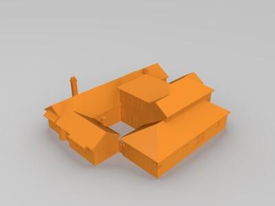 欧式庄园-3d打印模型