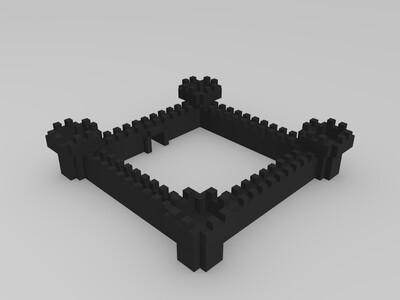 城堡模型-3d打印模型