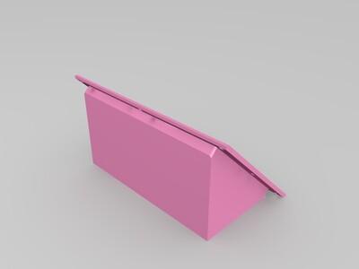 乐积显示屏外壳(45度角)-3d打印模型