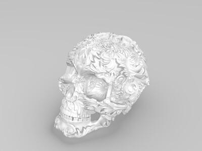 艺术骷髅-3d打印模型