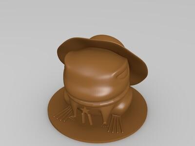 旅行青蛙中的呱娃子(已加支撑)-3d打印模型